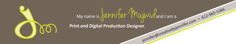 Creative by Jennifer - Print and Digital Production Designer